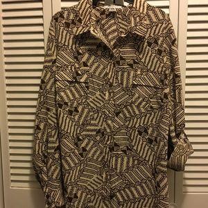 Organic patterned blouse